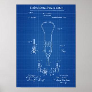 Stethoscope Patent - Decor, Doctor Office Decor