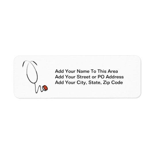 Stethoscope Tshirts and Gifts Return Address Label