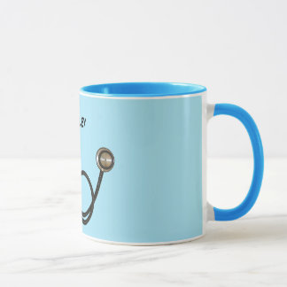 Stethoscope with Custom Name Ringer Mug