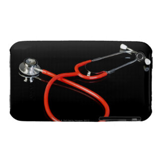 Stethoscope with its reflection on a black Case-Mate iPhone 3 cases