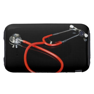 Stethoscope with its reflection on a black iPhone 3 tough cases