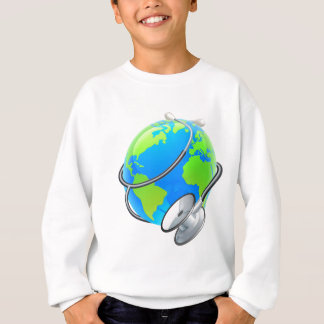 Stethoscope World Health Day Earth Globe Concept Sweatshirt