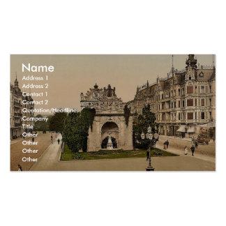 Stettin-Berlinerthor, Berlin, Germany rare Photoch Business Card Template