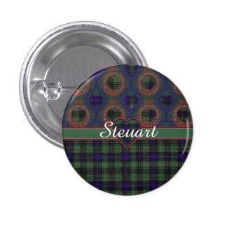 Steuart clan Plaid Scottish kilt tartan 3 Cm Round Badge