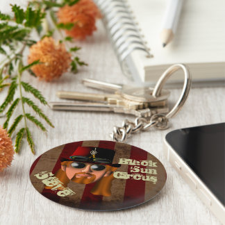 Steve Clown Button Key Chain