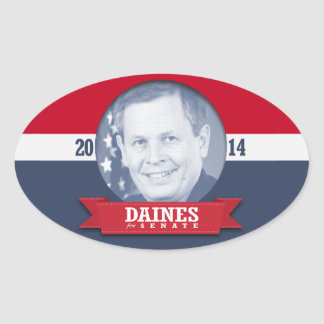 STEVE DAINES CAMPAIGN OVAL STICKER