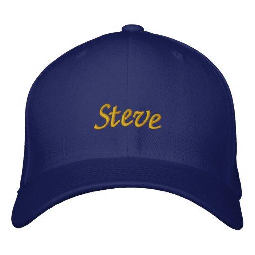 Steve Embroidered Baseball Caps