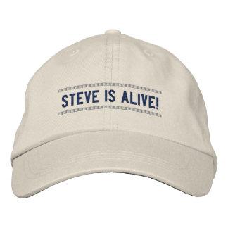 Steve is Alive - Steve Jobs Memorial Hat Embroidered Baseball Caps