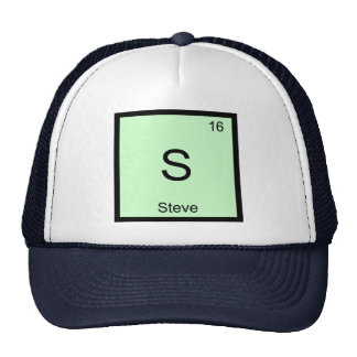 Steve Name Chemistry Element Periodic Table Cap