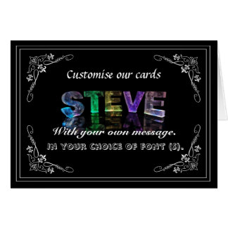Steve -  Name in Lights greeting card (Photo)