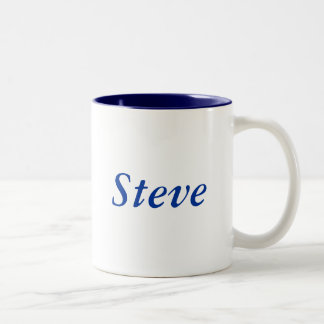 Steve name Two-Tone coffee mug