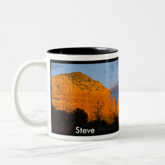 Steve on Moonrise Glowing Red Rock Mug