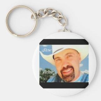 Steve Petno Apron Basic Round Button Key Ring
