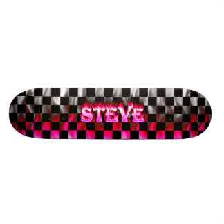 Steve pink fire Skatersollie skateboard