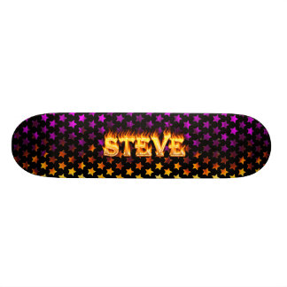 Steve skateboard fire and flames design.