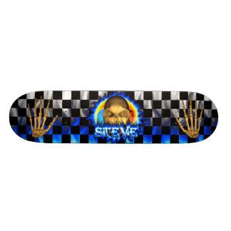 Steve skull blue fire Skatersollie skateboard