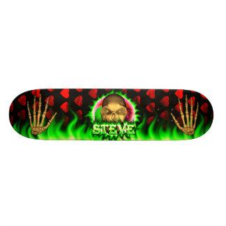 Steve skull green fire Skatersollie skateboard