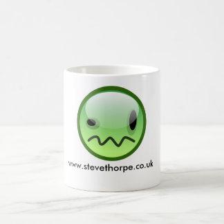 Steve Thorpe Green Smiley Mug