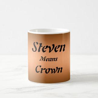 Steven Basic White Mug