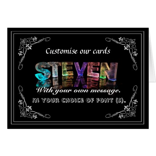 Steven -  Name in Lights greeting card (Photo)