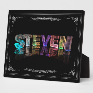 Steven  - The Name Steven in 3D Lights (Photograph Plaque