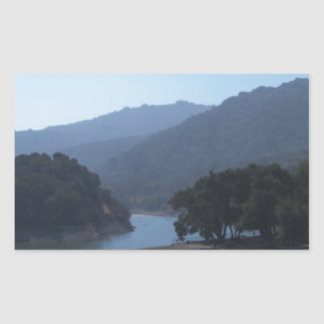 Steven's Creek Reservoir Rectangular Sticker