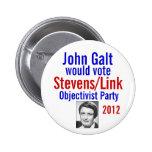 Stevens/Link Objectivist Pary 2012 Pins