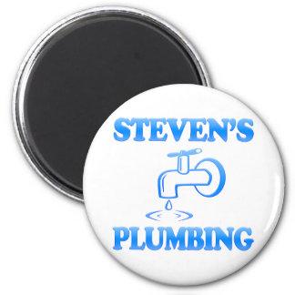 Steven's Plumbing 6 Cm Round Magnet