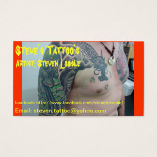 Steve's Tattoo's business card