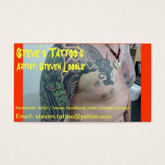 Steve's Tattoo's business card
