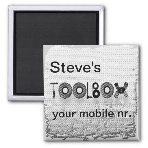 Steve's toolbox fridge magnets