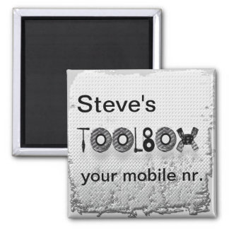 Steve's toolbox square magnet
