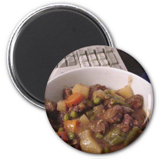 Stew Beef Cooking Dinner Food 6 Cm Round Magnet