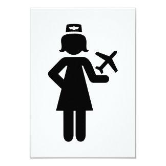 Stewardess plane custom invitation