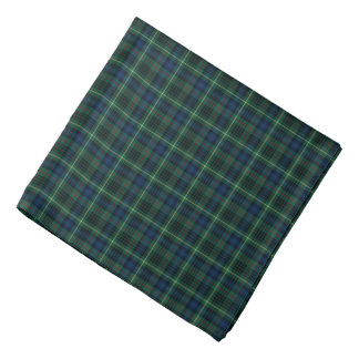Stewart Clan Dark Green and Blue Hunting Tartan Bandana