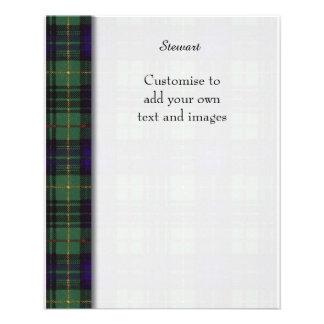 Stewart clan Hunting Plaid Scottish tartan 11.5 Cm X 14 Cm Flyer