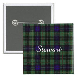 Stewart clan Hunting Plaid Scottish tartan 15 Cm Square Badge