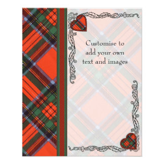 Stewart clan Plaid Scottish tartan 11.5 Cm X 14 Cm Flyer