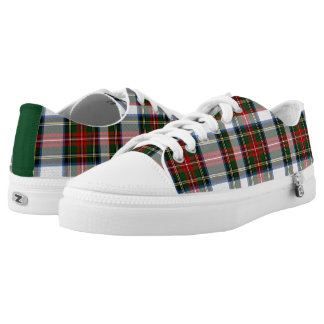 Stewart Dress Tartan Plaid Tennis Shoes Printed Shoes