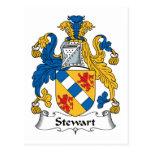 Stewart Family Crest Postcards