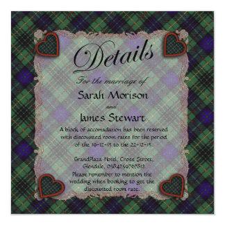 Stewart Hunting Scottish clan tartan - Plaid 5.25x5.25 Square Paper Invitation Card