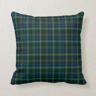 Stewart Hunting Tartan Green and Blue Plaid Cushion