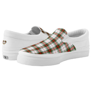 Stewart King George Tartan Plaid Zipz Slip On Shoe Printed Shoes