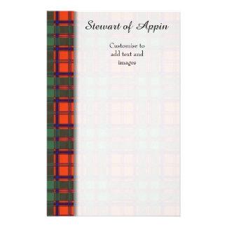 Stewart of Appin clan Plaid Scottish tartan 14 Cm X 21.5 Cm Flyer