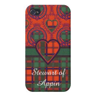 Stewart of Appin clan Plaid Scottish tartan iPhone 4 Case