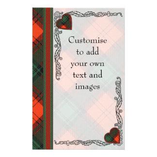 Stewart of Atholl clan Plaid Scottish tartan 14 Cm X 21.5 Cm Flyer
