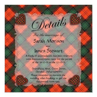 Stewart of Atholl Scottish clan tartan - Plaid 13 Cm X 13 Cm Square Invitation Card
