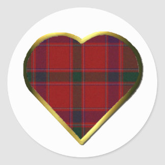 Stewart Red Plaid Heart Envelope Seal