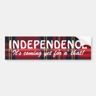 Stewart Tartan Scottish Independence Sticker Bumper Sticker