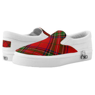 Stewart Tartan Slip On Shoes